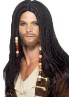 Pirate Man Wig - Black (43286)